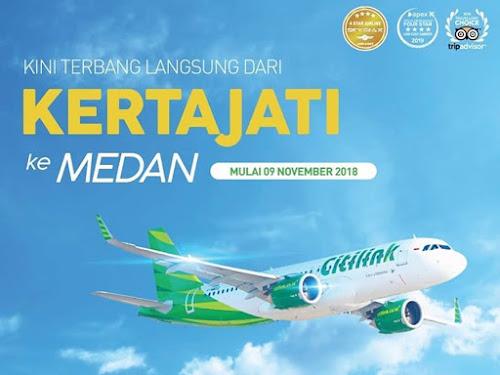 Citilink rute Kertajati-Kualanamu