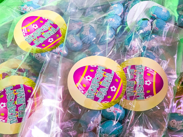 Mini chocolate eggs in bags for prizes for the Easter Egg Hunt at Marsh Farm