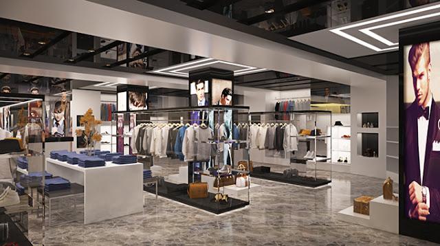 Phối cảnh gian hàng thời trang Shophouse Thái Bình