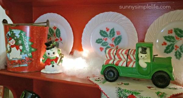 Pyrex Christmas, vintage snowmen