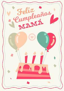 Feliz Cumpleaños Mama cake