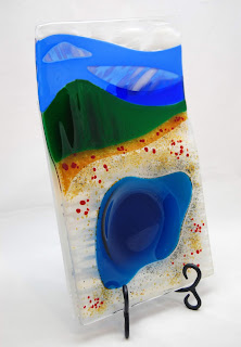 Yellowstone Inspired Fused Glass Serving Tray