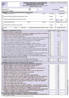 ΠΟΛ.1041/2016 Τύπος και περιεχόμενο της δήλωσης φορολογίας εισοδήματος φυσικών προσώπων, φορολογικού έτους 2015, των λοιπών εντύπων και των δικαιολογητικών εγγράφων που υποβάλλονται με αυτή