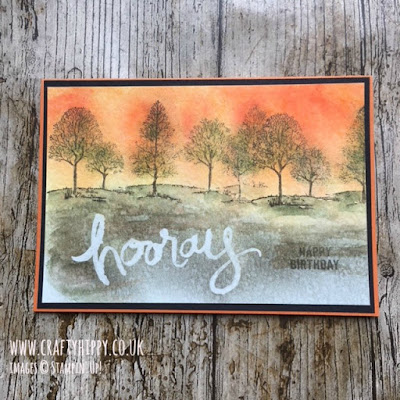 How to create this Lovely as a Tree and Brusho Crystal Colour by Stampin' Up!