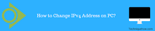 Change IPv4 Address on Windows 10 PC