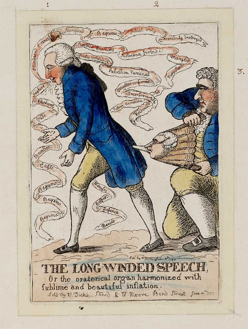 Caricature of Whig politician Richard Brinsley Sheridan by William Dent (June 4, 1788)