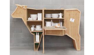 mueble de vaca para la cocina