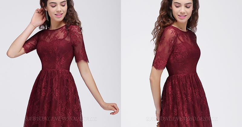 Top 3 vestidos de festa curtos na cor Borgonha.