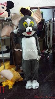 may bán thuê mascot mèo tom