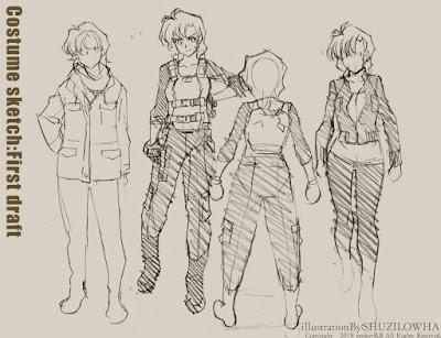"""Nuevos bocetos para el anime """"Project [B.B]"""" de Kenichi Sonoda"""