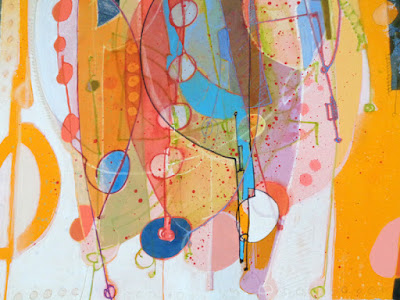 colourful joyful playful beautiful whimsical acrylic painting