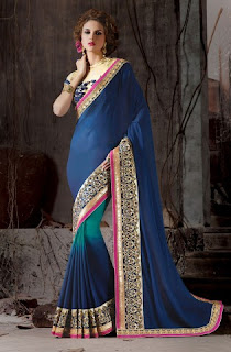 Designer Blue Sarees