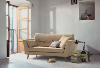 model model sofa