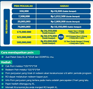 cara daftar program Hot 151 xl