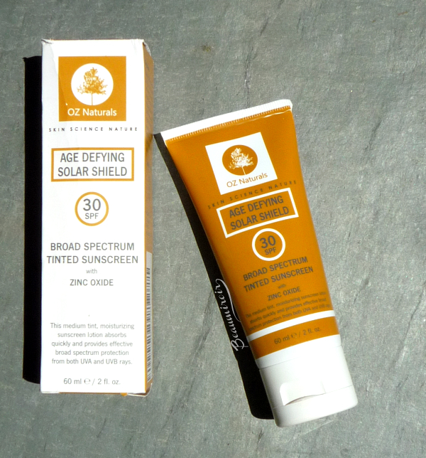 OZ Naturals Age Defying Solar Shield SPF30 review