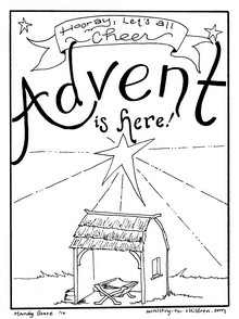 advent coloring pages crafts - photo#13