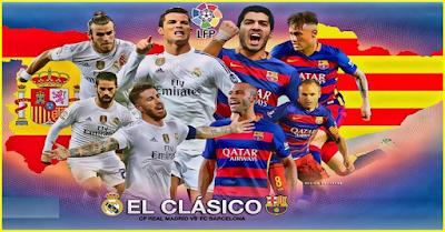 مباراة الكلاسيكو 2017 بين ريال مدريد وبرشلونة والقنوات الناقلة المجانية للقمة الأسبانية