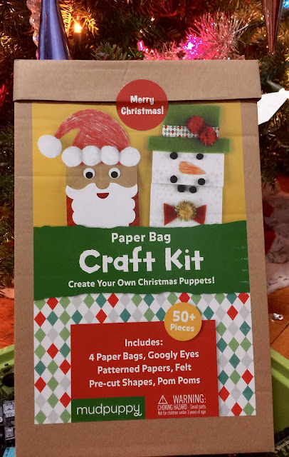 Easy Holiday Crafting with Kids - MudPuppy Paper Bag Craft Kit