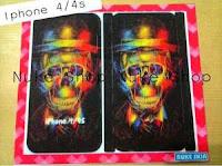 Stiker, skotlet atau garskin skin hp Iphone atau apple 4 / 4 S Tengkorak