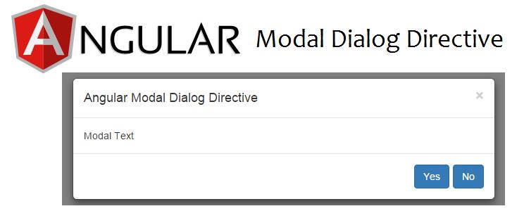 angular modal dialog directive - Tech Tutorials