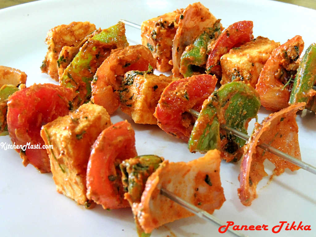 Paneer Tikka Recipe ( Cottage Cheese Snack ) | Vegetarian Recipes