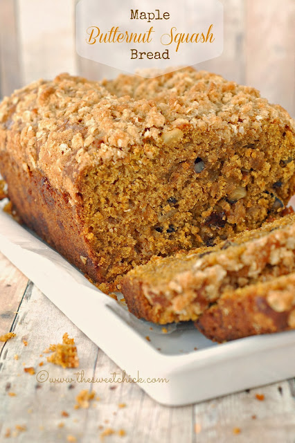 #Maple #Butternut #Squash #Bread ©www.thesweetchick.com