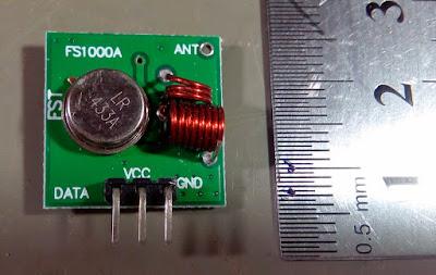 Módulos de 433MHz - Transmissor