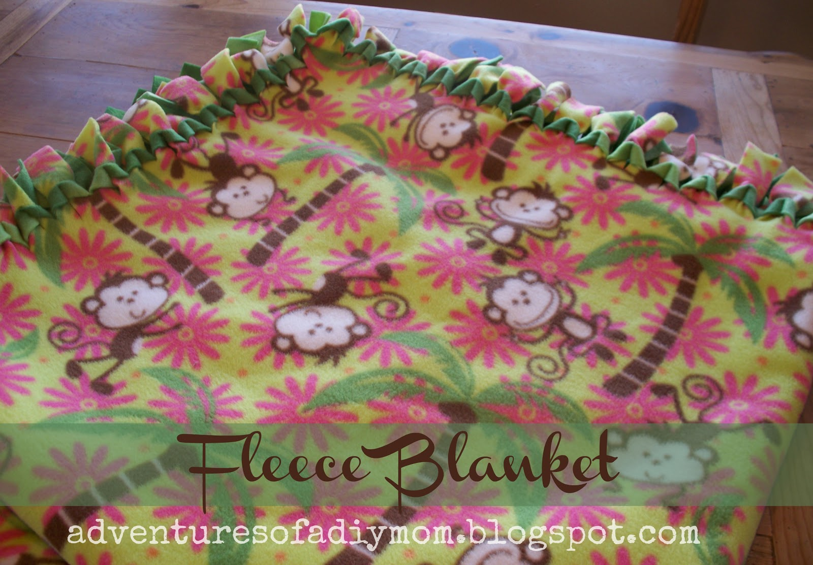 how to make a no sew fleece blanket - adventures of a diy mom
