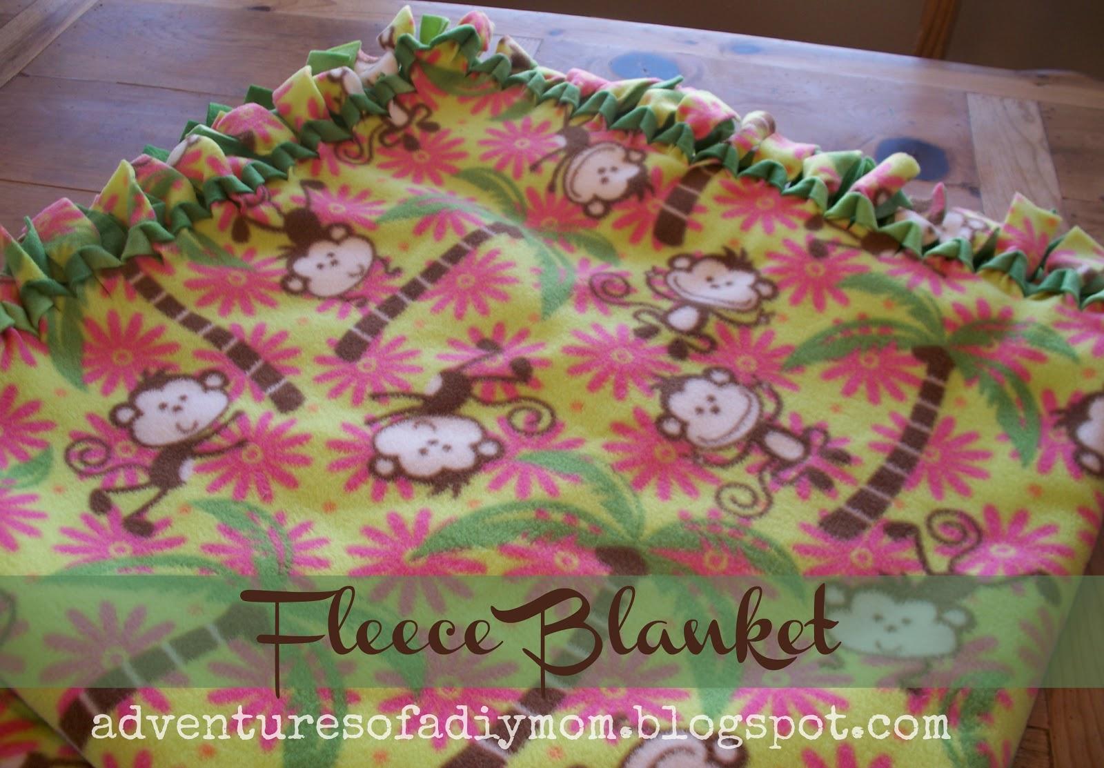 How To Make A No Sew Fleece Blanket Adventures Of A Diy Mom