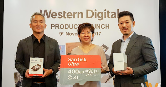 Western Digital Launches My Cloud Home, SanDisk iXpand Base and 400GB SanDisk Ultra microSDXC UHS-I card