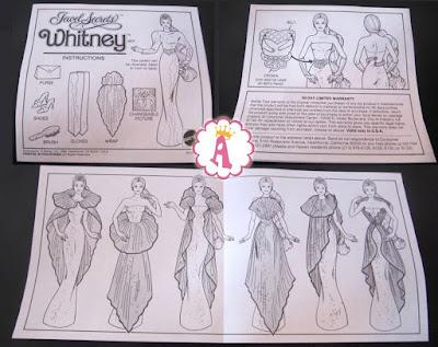 Буклеты из коробки от куклы Барби Уитни 1986 года