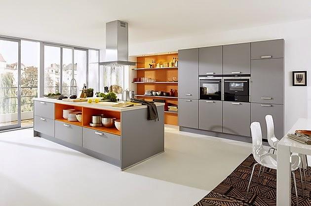 Moderna cocina con isla