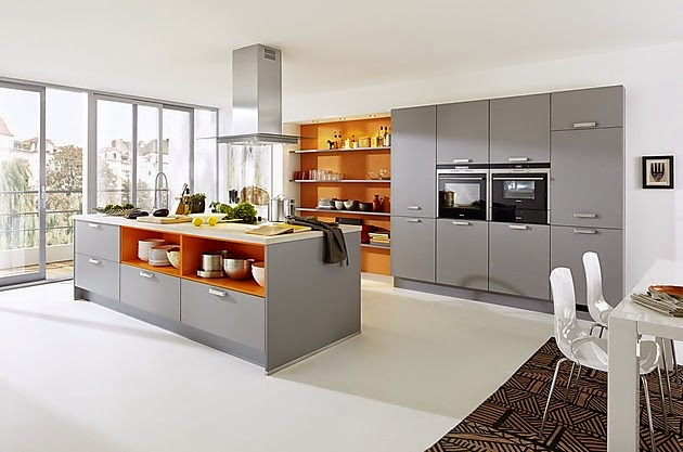 Cocinas modernas con isla central colores en casa - Islas de cocina ...