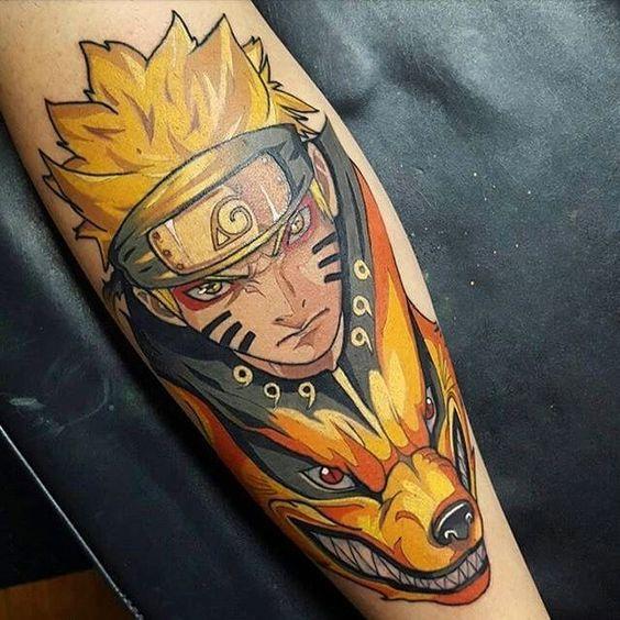 Awesome Japanese Anime Tattoos