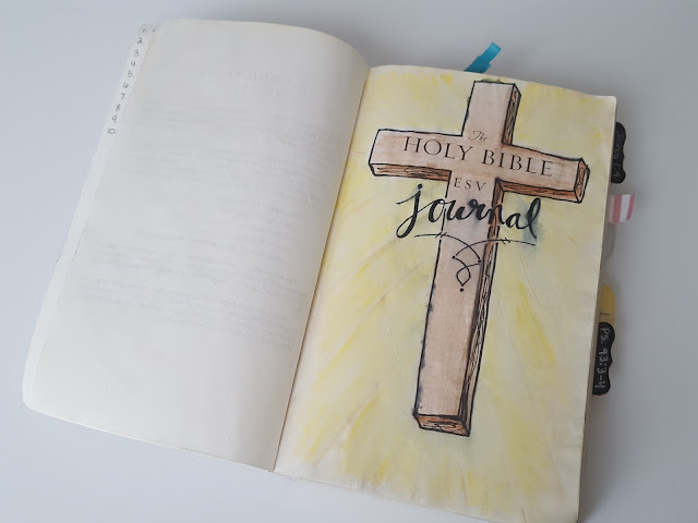 bible journaling, illustrated faith, faith journaling, mixed media, scripture, bible, esv bible, paint, project life