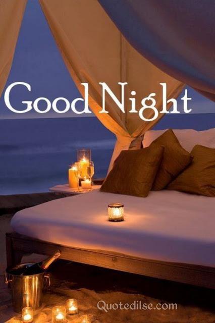 good night romantic shayari