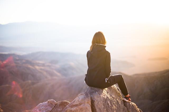 woman on mountain