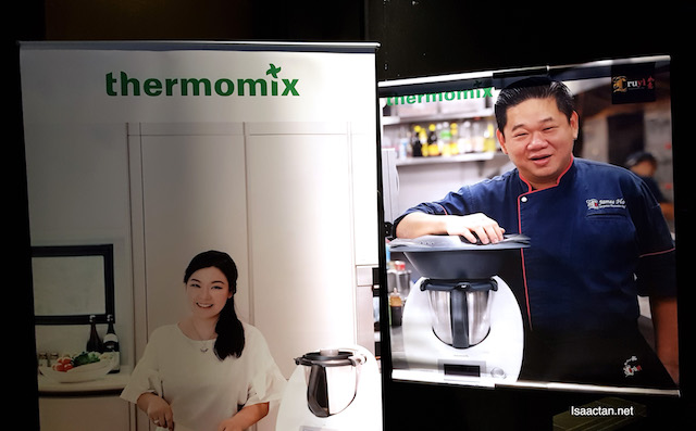 Collaboration between Thermomix® Malaysia, Miss Theresa Lee, the author of the cookbook together with Chef James Ho, the Executive Chef of Ruyi & Lyn