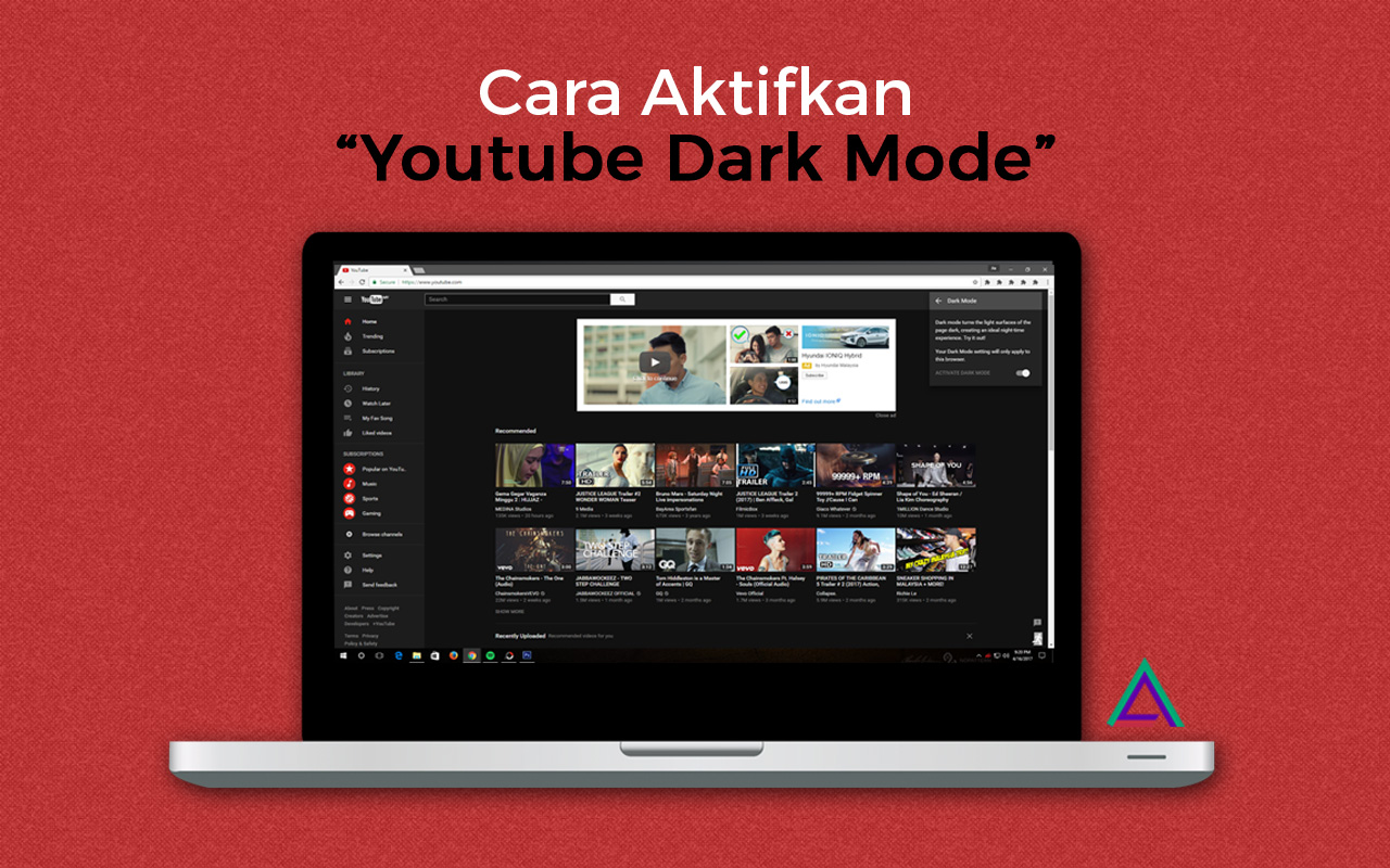 Cara Aktifkan 'Youtube Dark Mode'