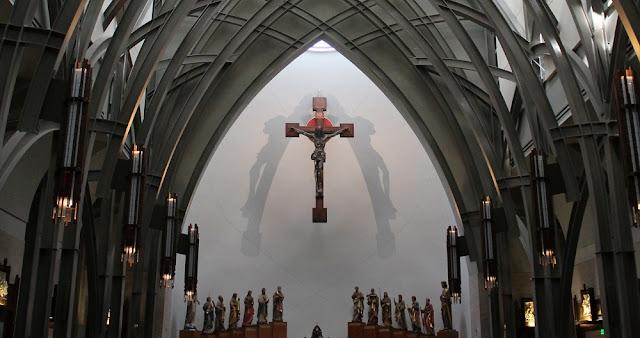 Detalle del interior del oratorio