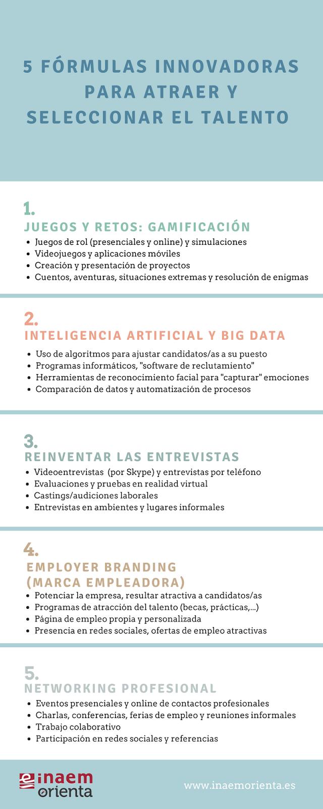 Infografía: 5 fórmulas innovadoras para atraer y seleccionar talento