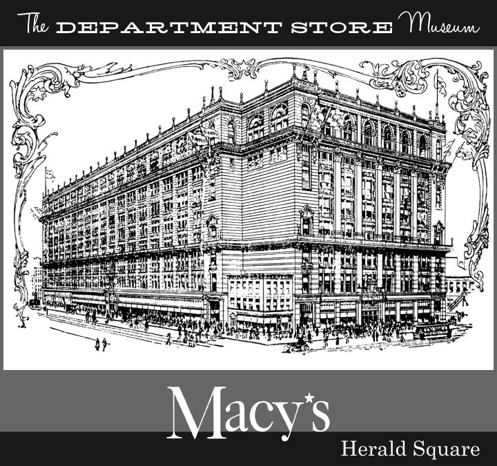 The department store museum r h macy co new york for Macy s herald square floor directory
