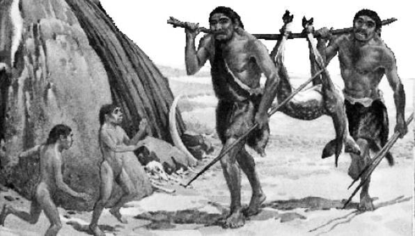 Gambar ilustrasi datangnya manusia purba ke Indonesia