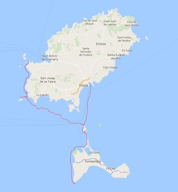 luoghi di Ibiza e Formentera visitati