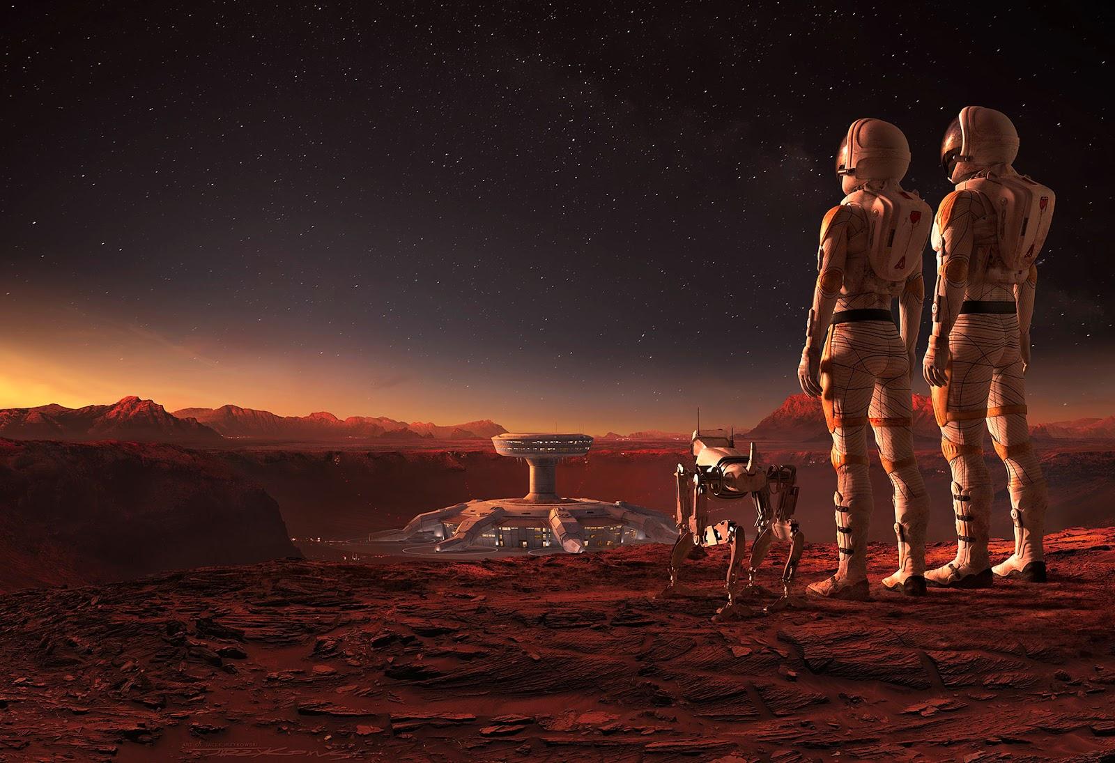 Mars base by Nick Kaloterakis & Jacek Irzykowski