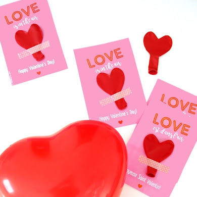 DIY Valentine's Balloon Favors with Free Printables 😍