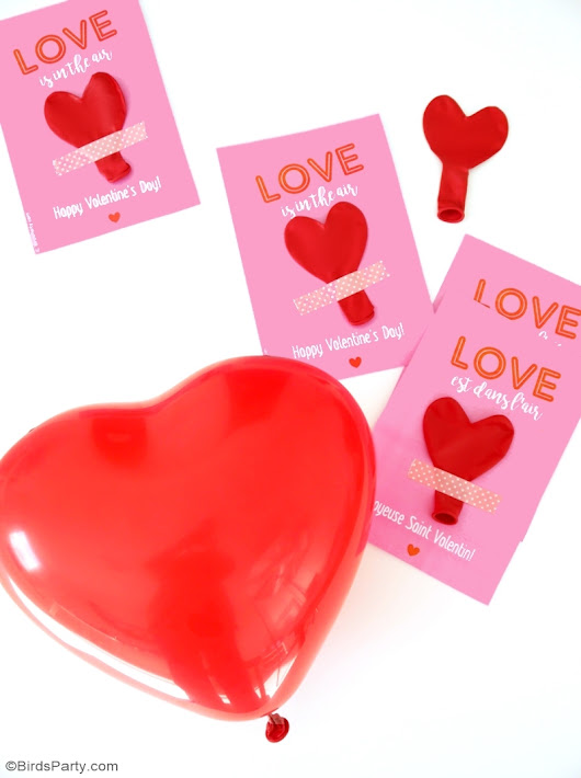 DIY Valentine's Balloon Favors with Free Printables 😍 | Party Ideas | Party Printables