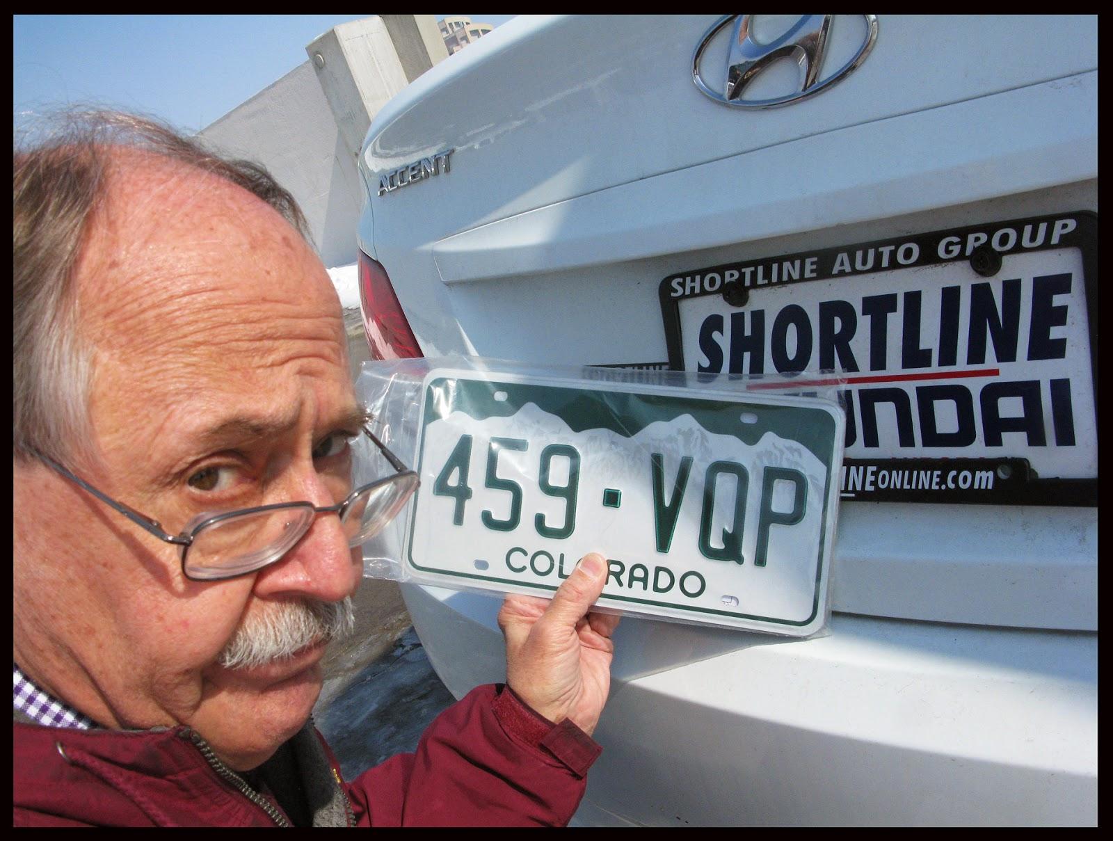 David Hoyt's Blog: The Heartbreak Of Purchasing Colorado License Plates