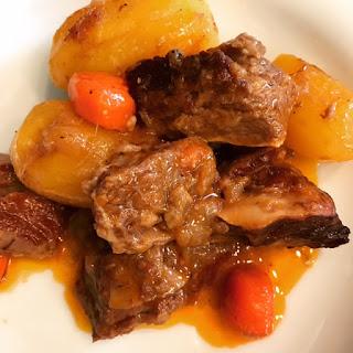 Receta de estofado de ternera con patatas