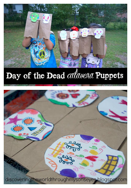 Calavera puppets introduce children to Day of the Dead.